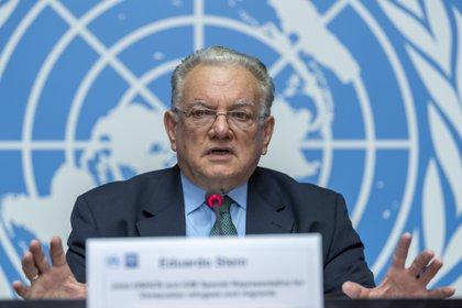 El enviado de la Organización Internacional para las Migraciones (OIM)  Eduardo Stein