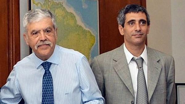 Julio De Vido y Roberto Baratta, cuando eran funcionarios en Planificación