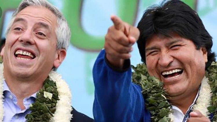 Evo Morales con el vicepresidente Alvaro García Linera, en campaña. En octubre irán en búsqueda de su cuarto mandato
