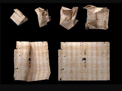 Un equipo de investigación pudo desplegar virtualmente una carta sin abrir de 1697. (MIT)