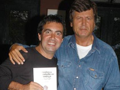 Diego Pérez junto a Carlos Calvo