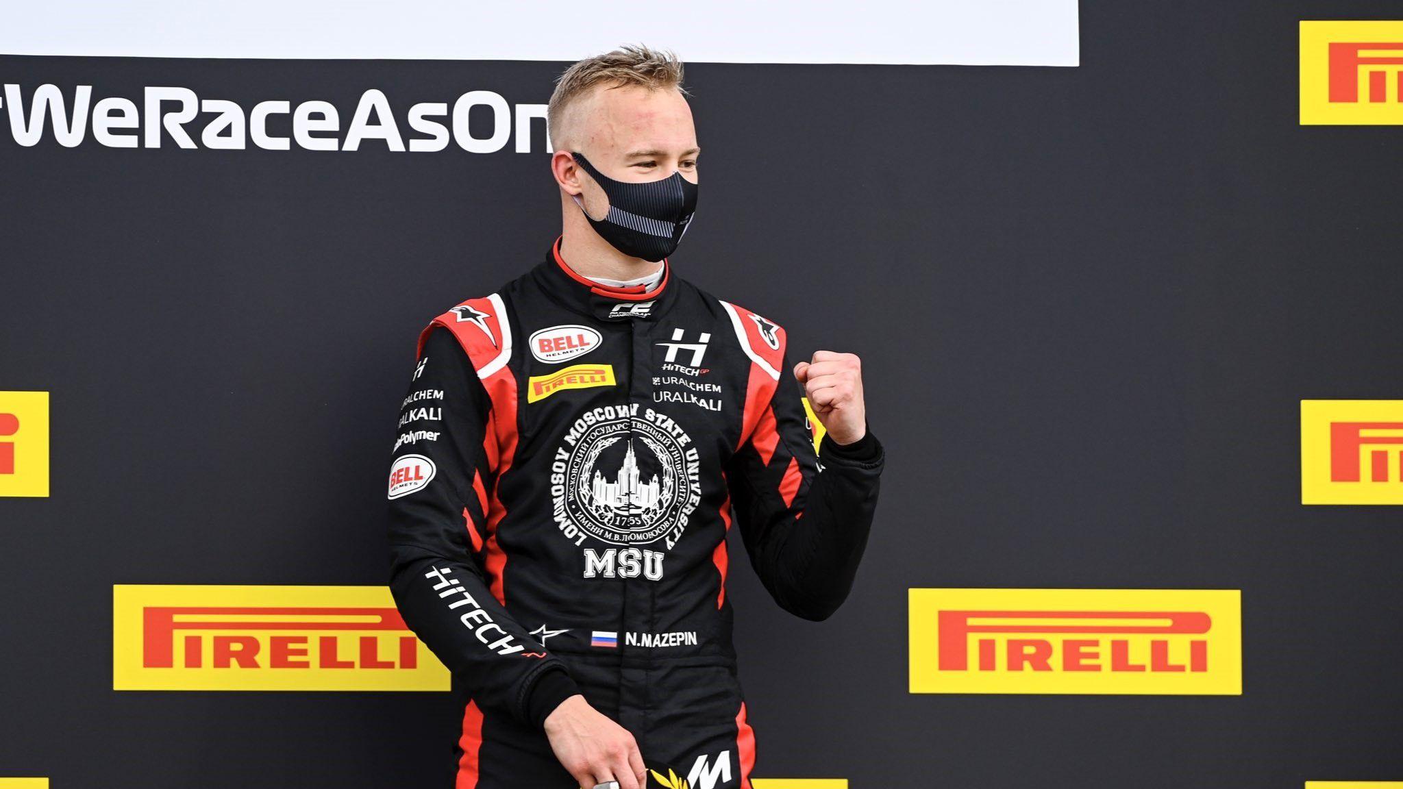 Mazepin ganó dos carreras este 2020 en la Fórmula 2