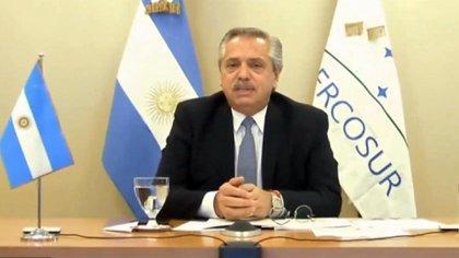 Alberto Fernández, presidente de Argentina, país que recibe la presidencia pro témpore del Mercosur