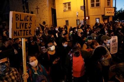 """Expression """"Black Lives Matter"""" September 6, 2020 in Rochester, New York (REUTERS / Brendan McDermott)"""
