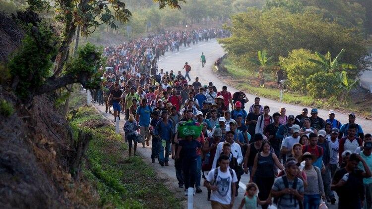 Parte del acuerdo con EEUU incluye que México contenga la migración ilegal de Centroamérica (Foto: AFP)
