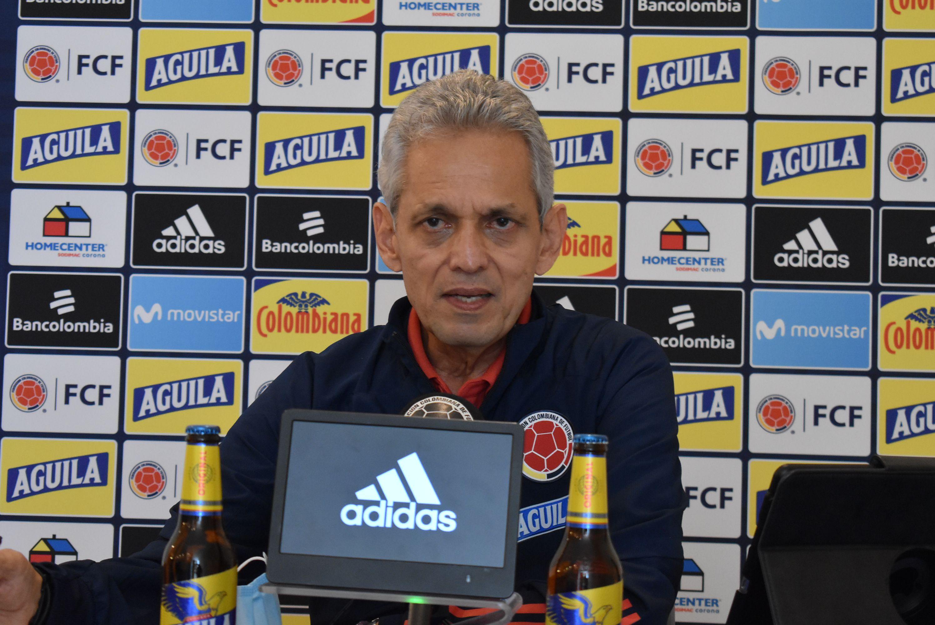 Entrenador colombiano Reinaldo Rueda en conferencia de prensa de cara a la triple fecha de eliminatorias Conmebol de octubre de 2021 / (Colprensa)