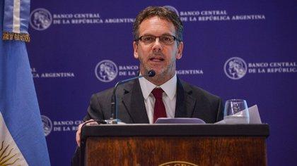 Guido Sandleris habla durante una conferencia de prensa durante su paso por el BCRA (@BancoCentral_AR)