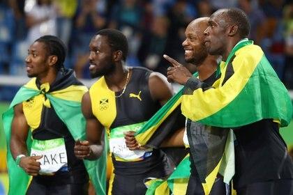 Blake consiguió la medalla de oro en relevos 4x100 junto a Usain Bolt en Rio 2016 (Reuters)