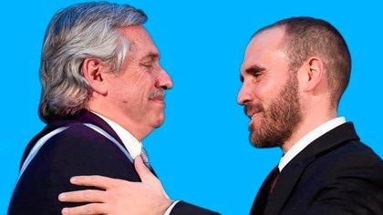 Alberto Fernández y Martín Guzmán cuando juró como ministro de Economía. (@Martin_M_Guzman)