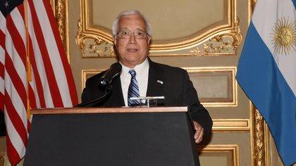 El embajador de los Estados Unidos en la Argentina, Edward Prado (Nicolás Stulberg)