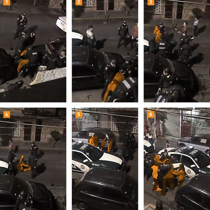 Elements of the SSC staged a fight in the mayor's office of Coyoacán, Mexico City (Photo: Screenshot)