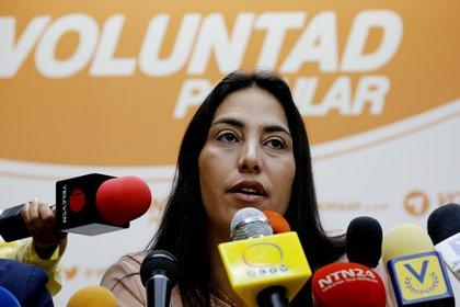 En la imagen, la opositora venezolana Adriana Pichardo. EFE/Leonardo Muñoz/Archivo
