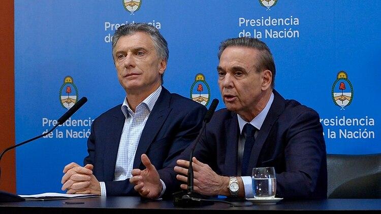 Mauricio Macri y Miguel Pichetto, la fórmula de Juntos por el Cambio (foto Gustavo Gavotti)