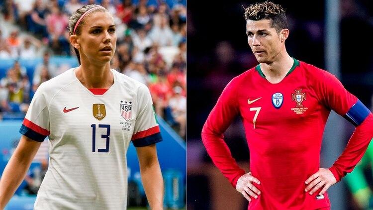 Alex Morgan habló sobre la denuncia por violación contra Cristiano Ronaldo (Shutterstock)