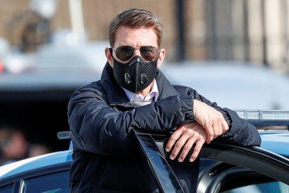 "Tom Cruise filmando ""Misión imposible 7"" en Roma (Reuters/ /Guglielmo Mangiapane/ File Photo)"