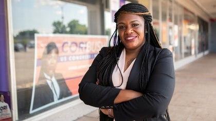 La candidata demócrata Cori Bush (REUTERS/Lawrence Bryant)