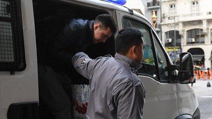 Fabbro al llegar a una audiencia al juicio en su contra en agosto de 2019  (Foto: Maximiliano Luna)