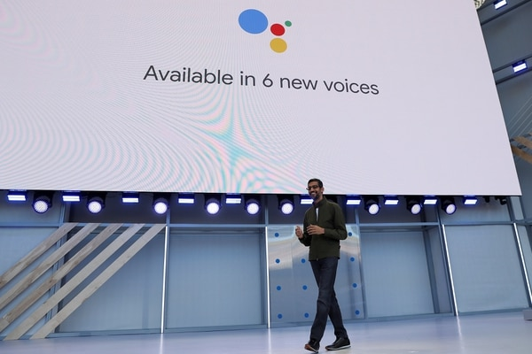 The Google assistant now has six different voices (all in English), to offer different tones and accents and make the conversation more natural (Reuters)