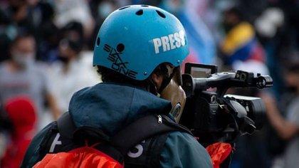 La libertad de prensa en Colombia está en riesgo.  Vanessa Jiménez / Nurphoto Agencia de Noticias Internacional.