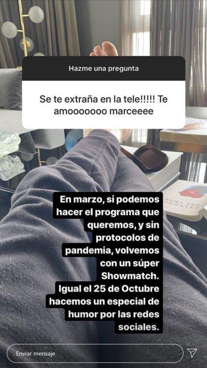 Tinelli confirmó cuándo regresará a la televisión