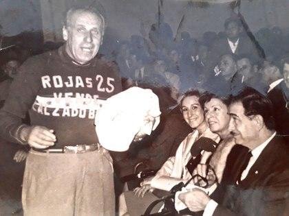 Con Pedro Quartucci, actor y ex boxeador
