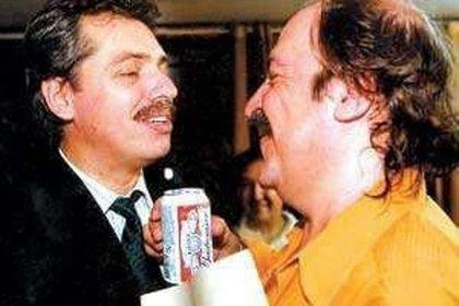 Alberto Fernandez y Litto Nebbia, en una foto de otros tiempos