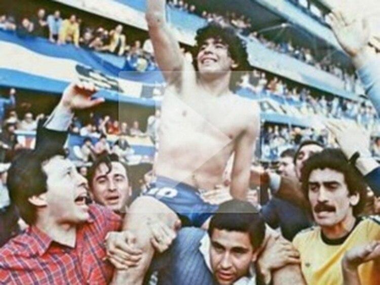 24c9d5e08226d Maradona obtenía con Boca su único título local - Infobae