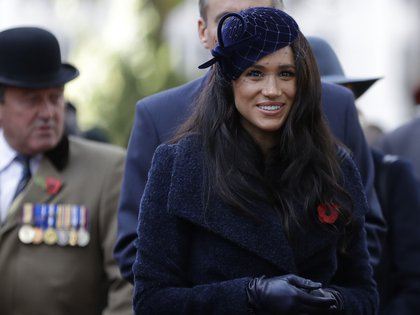Meghan Markle, la duquesa de Sussex y sus atuendos (AP Photo/Kirsty Wigglesworth, pool)