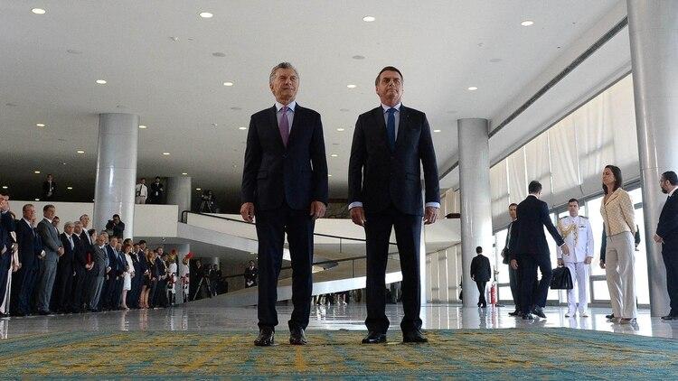 Macri y Bolsonaro comienzan su reunión en el Palacio del Planalto