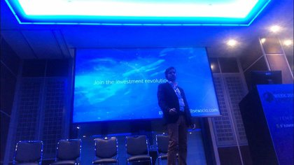 Guido Quaranta, CEO & Founder de SeSocio, fue uno de los principales oradores en la London Blockchain Week