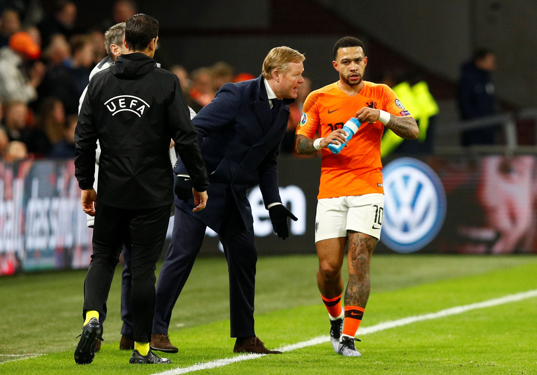 Depay estuvo bajo las órdenes de Koeman en la selección holandesa -REUTERS/Francois Lenoir