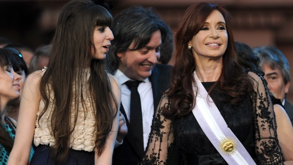 Florencia y Máximo Kirchner. También confirmaron sus procesamientos (foto AFP)