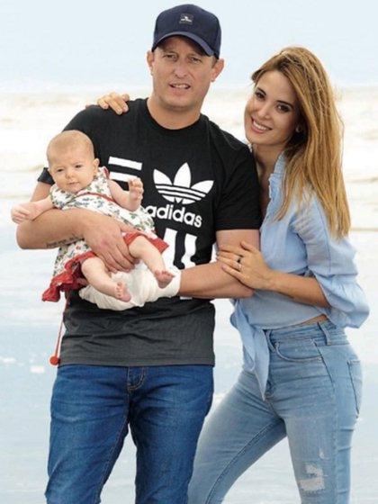 Jésica, Martín Insaurralde y la pequeña Chloé
