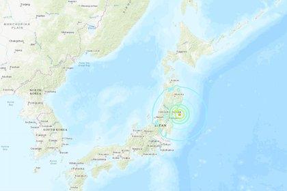 Una mappa che mostra il luogo esatto in cui si è verificato il terremoto
