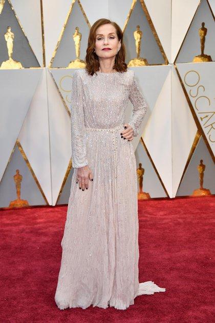 Isabelle Huppert en los premios Oscar de 2017 (Frazer Harrison/Getty Images)