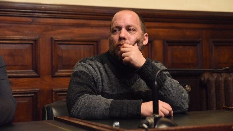 Lucas Carrasco, durante el juicio en su contra (Franco Fafasuli)