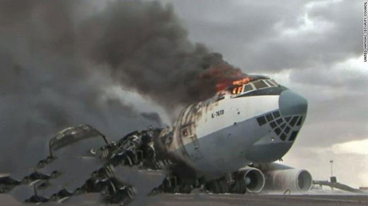 El avión que era propiedad de Volaris, un Ilyushin Il-76TD, fue destruido por un drone en Libia.