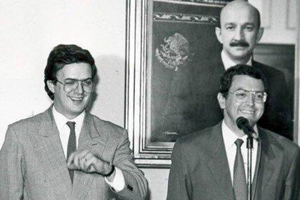 Marcelo Ebrard y Manuel Camacho Solís (Foto: archivo)