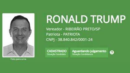 """Ronaldo de Oliveira, alias """"Ronald Trump"""""""