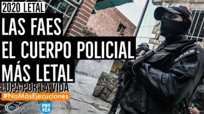 FAES, el cuerpo policial más letal (PROVEA)
