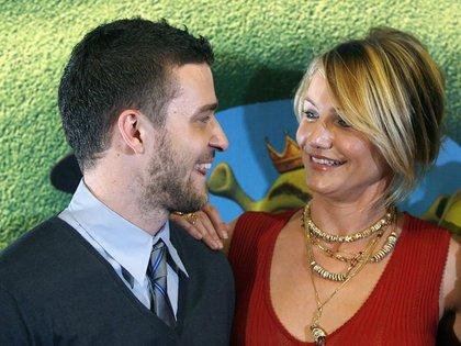 "Justin Timberlake y Cameron Diaz pose en la premiere de ""Shrek The Third""  en 2007 (Reuters)"