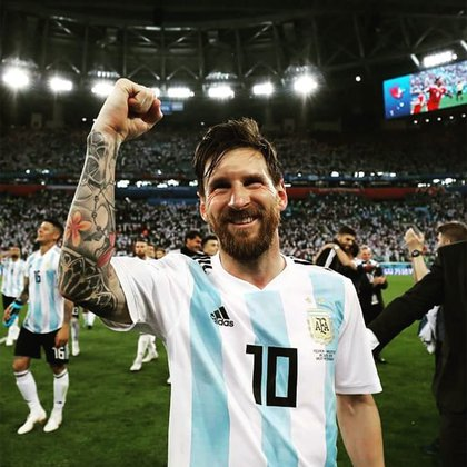 Lionel Messi festeja el triunfo frente a Nigeria. (Foto: Instagram)