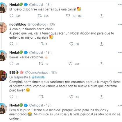 Nodal respondió a comentarios sobre el contenido de su siguiente disco