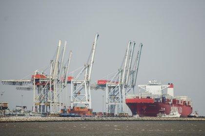 El puerto de Montevideo, en Uruguay, es utilizado por el narcotráfico para enviar drogas a Europa (AP Photo/Matilde Campodonico)