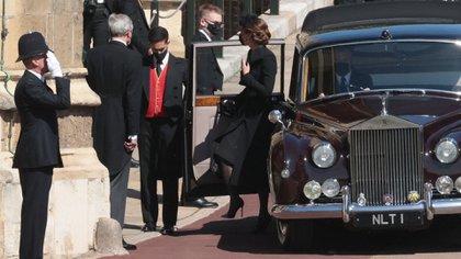 La Duquesa de Cambrigde - Kate Middleton- llegando a St. George's Chapel