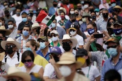 Los manifestantes recordaron a AMLO que el problema del agua podría extenderse más allá de 2020 debido al clima de la zona (Foto: José Luis González/ Reuters)