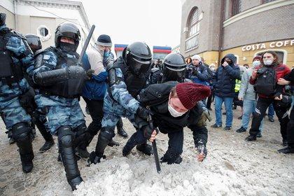 Arresto en Moscú (Reuters)