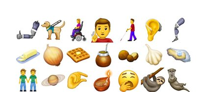Algunos de los 230 emojis que se incorporarán este año.