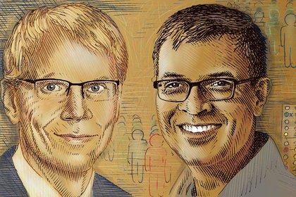 Martin Kuldorff (izquierda) y Jay Bhattacharya (derecha)