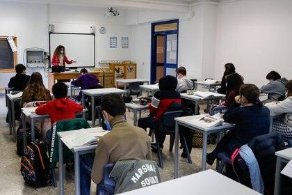 Alumnos de Italia volvieron a clases en enero (Reuters)